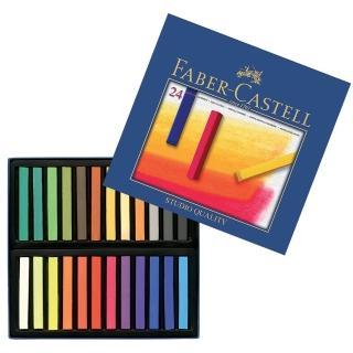 【Faber-Castell】創意工坊軟性粉彩條長型24色(粉彩條)