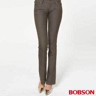 【BOBSON】女款超低腰伸縮小喇叭褲(942-71)