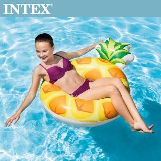 【INTEX】鳳梨PINEAPPLE游泳圈117x86cm 適用9歲+(56266)