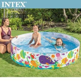 【INTEX】免充氣海洋世界幼童戲水游泳池183x38cm