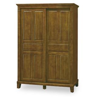 【時尚屋】達爾文黃檀實木5x7尺衣櫥 G18-024-1(免運費 免組裝 臥室系列 衣櫥)