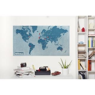 【palomar】拼世界地圖 藍色