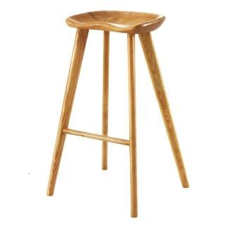 【AS】可欣水曲流實木高吧椅-38x28x75cm