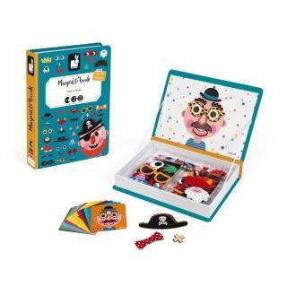 【法國Janod】磁鐵遊戲書-有趣的臉(兒童節特談)