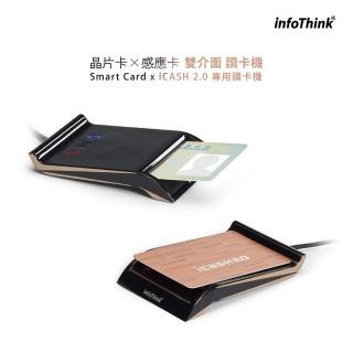 【InfoThink】晶片卡X感應卡雙介面讀卡機(102MU)