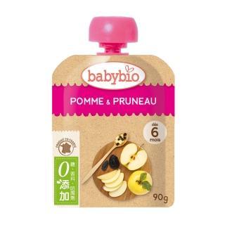 【法國BABYBIO】有機蘋果黑棗纖果泥(90g)