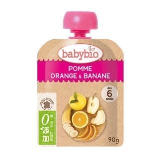 【法國BABYBIO】有機蘋果香橙香蕉纖果泥(90g)
