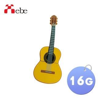 【Xebe集比】吉他造型隨身碟16G(造型USB送禮學生必備)
