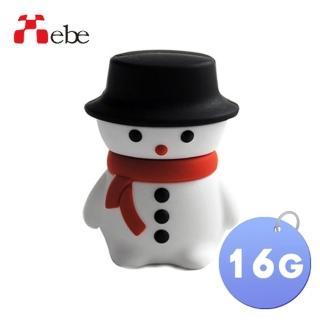 【Xebe集比】聖誕雪人造型隨身碟16G(造型USB送禮學生必備)
