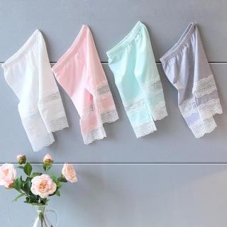 【小衣衫童裝】夏季女童薄款蕾絲拼接內搭五分褲(1070507)