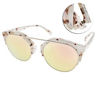【PAUL HUEMAN】前衛造型設計款眼鏡(碎花白銀-粉水銀綠 #PHS1099A 12)