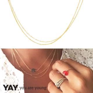 【YAY You Are Young】法國品牌 Stella 簡約項鍊 金色(簡約項鍊)