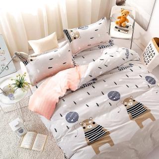 【A-ONE】台灣製 單人床包枕套兩件組 - 熊出沒 雪紡棉磨毛加工處理