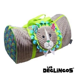 【Les Deglingos】立體玩偶旅行側背包、周末休閒包-獅子(JELEKROS)