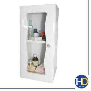 【雙手萬能】海彎防水塑鋼單門浴櫃(加大款)