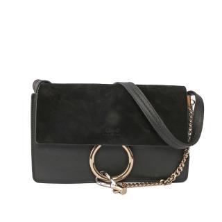 【Chloe' 蔻依】Faye Suede Shoulder Bag側揹肩包(黑色)