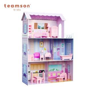 【Teamson】夢幻豪宅蒂芬妮奇境芭比娃娃屋(13件組)