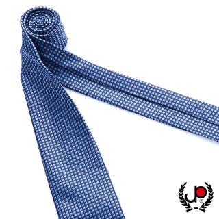 【JYI PIN 極品名店】100%絲質義大利手工領帶_藍底細格紋(YT5071)