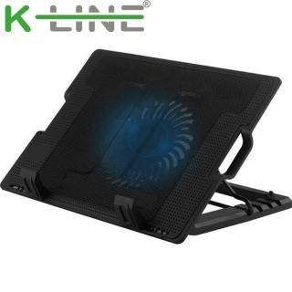 【K-Line】37CM 超靜音筆電散熱支架(黑)