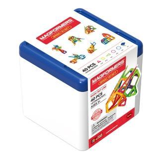 【Magformers】磁性建構片-藍桶40片裝(2018新品上市)