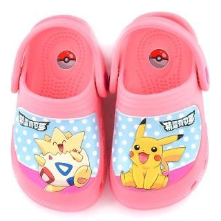 【童鞋城堡】神奇寶貝-寶可夢 中童 波克比x寶可夢花園鞋(PA1743-粉)