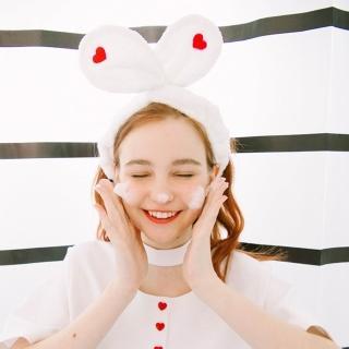 【梨花HaNA】日系少女心愛心刺繡甜甜髮帶