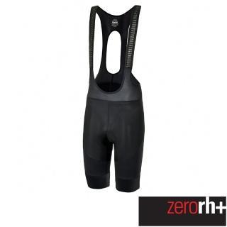 【ZeroRH+】義大利專業 Vortice 男仕競賽級吊帶自行車褲(黑色 ECU0515_R90)