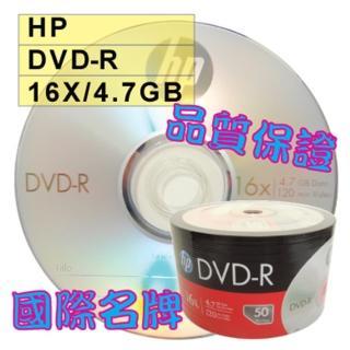 【HP 惠普】HP LOGO DVD-R 16X 4.7GB 空白光碟片(100片)