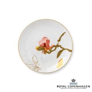 【Royal Copenhagen 皇家哥本哈根】骨瓷盤22cm(芙蘿拉花神-木蘭花)