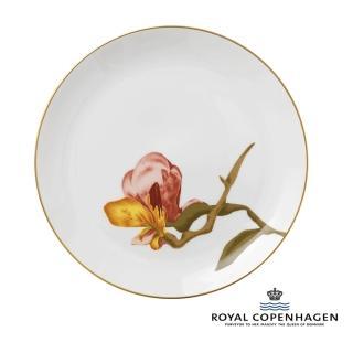 【Royal Copenhagen 皇家哥本哈根】骨瓷盤27cm(芙蘿拉花神-木蘭花)