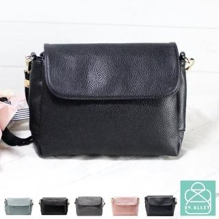 【89.Alley】側背包 手感軟皮革磁釦翻蓋三層款兩用小方包 斜背包 女包(5色)