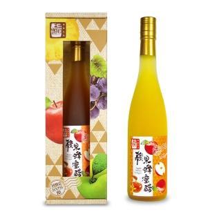 【醋桶子】三年熟成單入禮盒-蘋果蜂蜜醋(600ml/瓶)