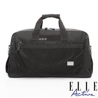 【ELLE active】Fish Net 漁網系列-旅行袋-黑色