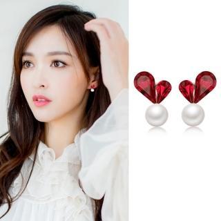 【梨花HaNA】韓國925銀針愛心珍珠小秘密耳環