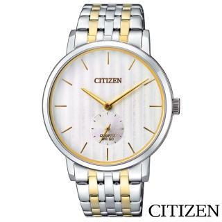 【CITIZEN 星辰】紳士風範小秒針石英男錶(BE9174-55A)