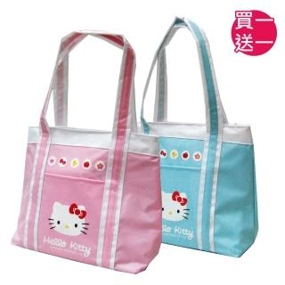 【HELLO KITTY】H凱蒂貓防水萬用手提餐袋(粉/藍綠_KT-3902)