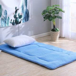 【LAMINA】3D氣對流日式床墊5cm-藍(單人加大)
