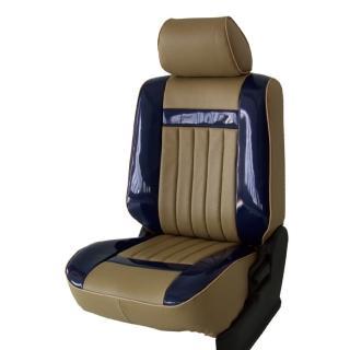 【葵花】量身訂做-汽車椅套-日式合成皮-開運條紋-亮皮(雙前座-第一排)