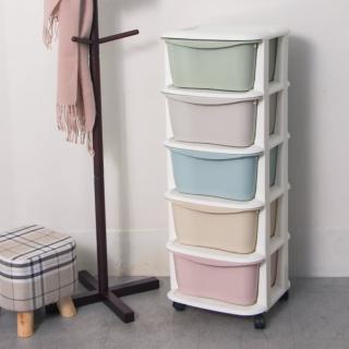【IDEA】macaron加大五層衣物玩具收納車/櫃