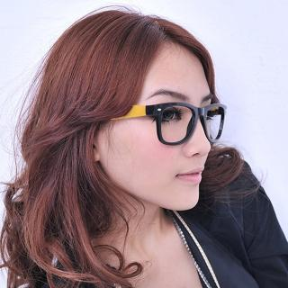 【Lady c.c.】普普風原色設計師款膠框眼鏡(黃)