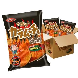 【湖池屋】卡辣姆久洋芋片厚切-勁辣唐辛子(78gX10包入/箱)