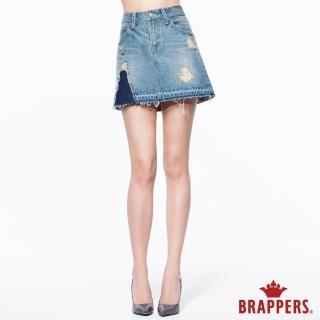 【BRAPPERS】女款 Boy Friend 系列-中低腰膝上短裙(淺藍)