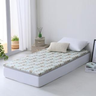 【LAMINA】自然葉風精梳棉透氣床墊5cm-綠(單人)