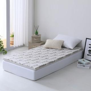 【LAMINA】自然葉風精梳棉透氣床墊5cm-灰(單人)