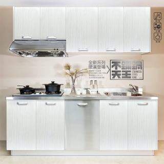 【日系時尚】【不鏽鋼天王】不鏽鋼廚具-不鏽鋼檯面塑合板門(220公分以內)