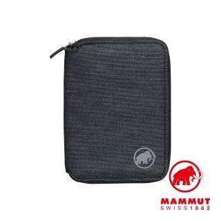 【Mammut 長毛象】Zip Wallet Melange 休閒短夾 黑色 #2520-00720(時尚休閒短夾)