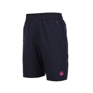 【FIRESTAR】女彈性平織五分褲-短褲 慢跑 路跑 深藍桃紅(CL825-93)