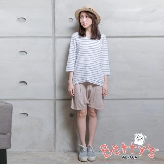 【betty's 貝蒂思】優雅寬鬆短褲(卡其色)