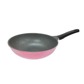 【PERFECT 理想】晶鑽不沾炒鍋32cm粉紅(韓國製造)
