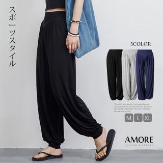 【Amore】百搭寬鬆飄逸棉質時尚瑜珈褲(舒適輕盈超好穿)